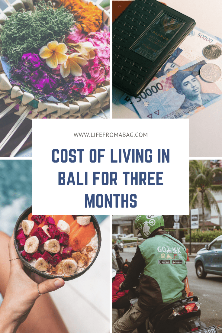 cost of living in bali