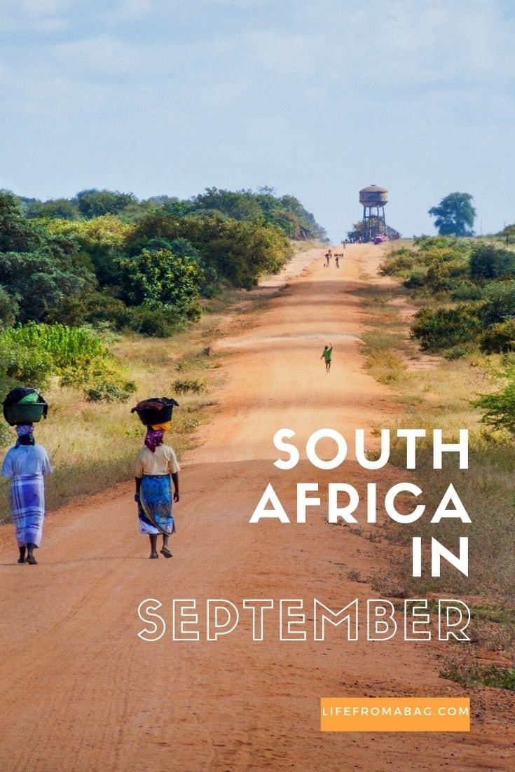 South Africa in September
