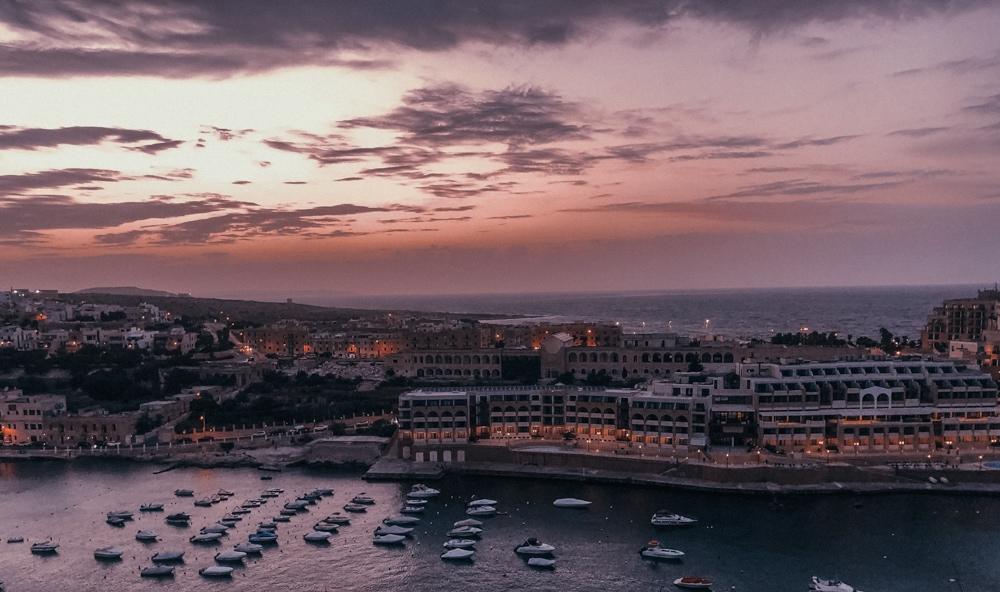 St George's Bay at Sunset -Malta