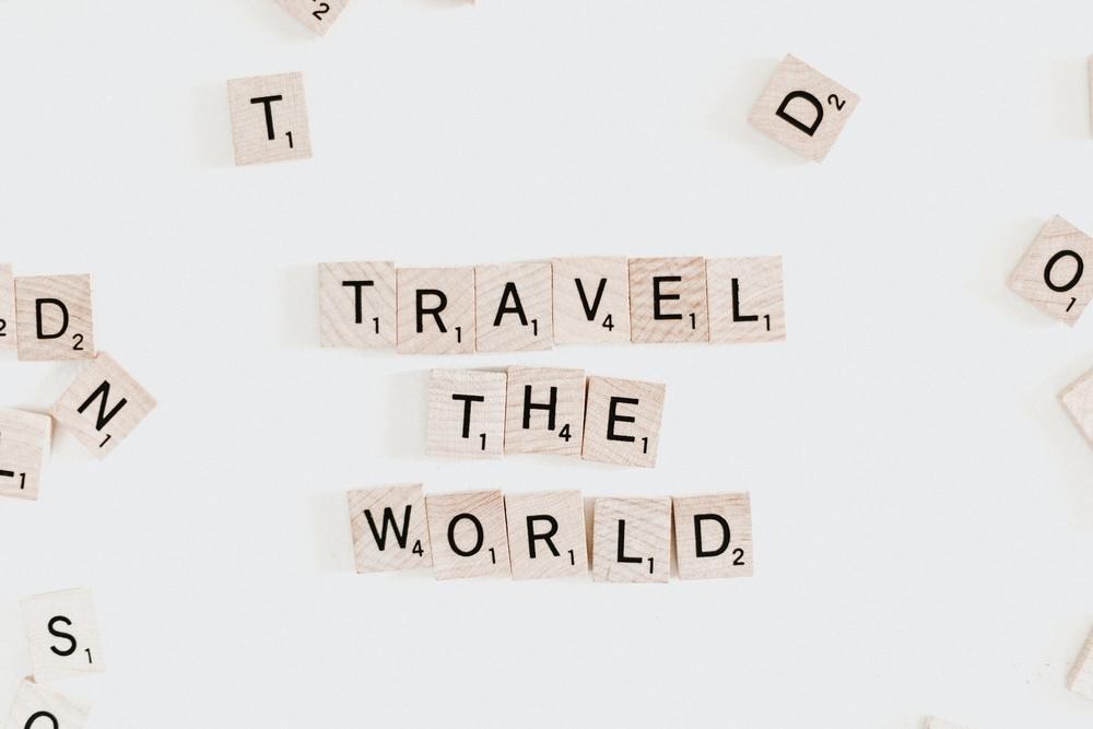 travel the world scrabble tiles